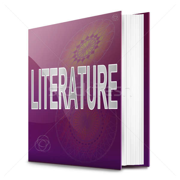 Literatur Text Buch Illustration Titel weiß Stock foto © 72soul