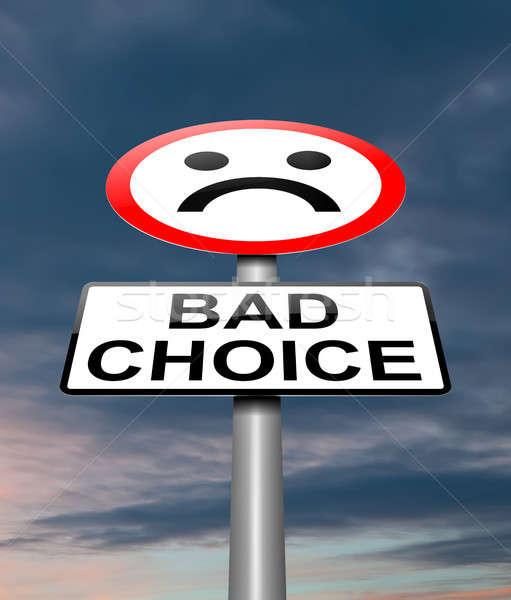 Bad choice concept. Stock photo © 72soul