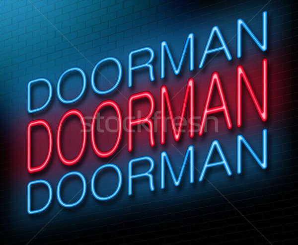 Doorman concept. Stock photo © 72soul