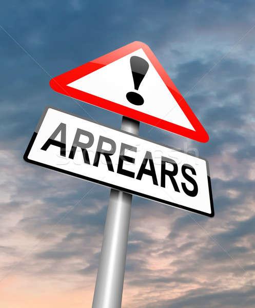Arrears concept. Stock photo © 72soul