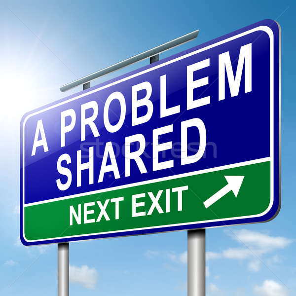 A problem shared. Stock photo © 72soul