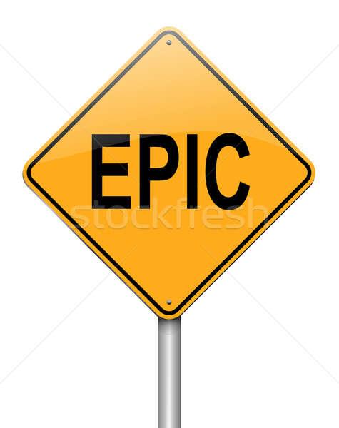 иллюстрация дорожный знак знак весело власти белый Сток-фото © 72soul