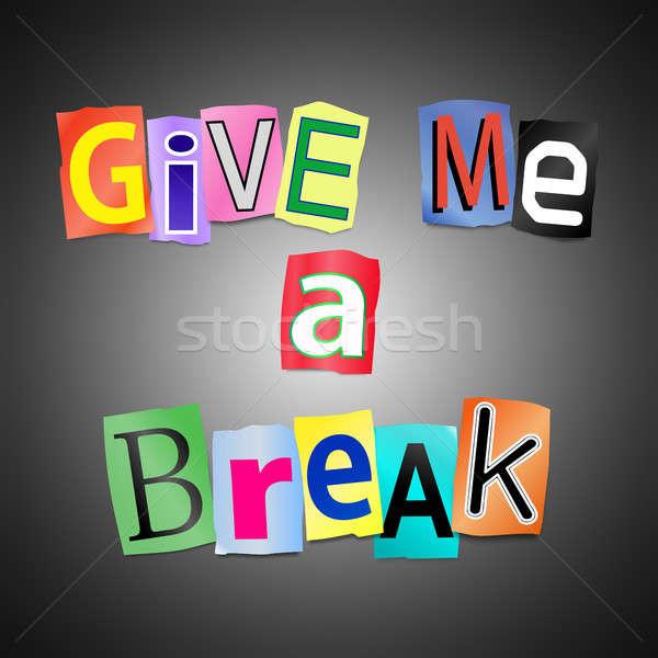 Give me a break. Stock photo © 72soul