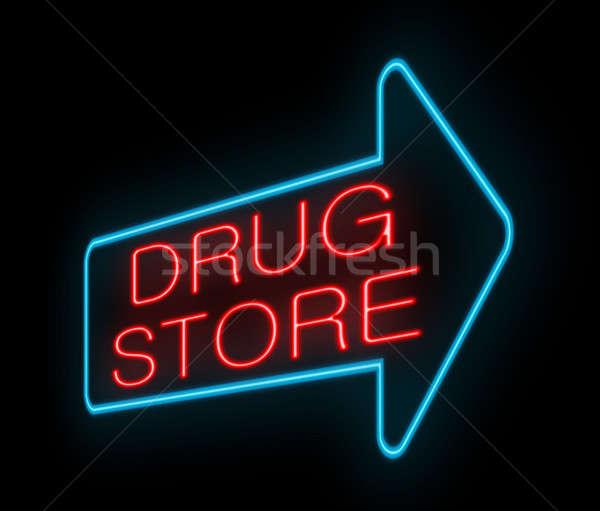 Neon Drugstore sign. Stock photo © 72soul