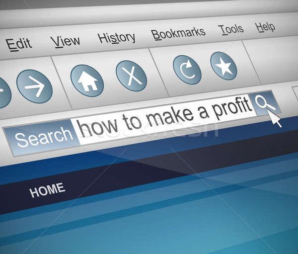 利益 実例 スクリーンショット インターネット 検索 技術 ストックフォト © 72soul