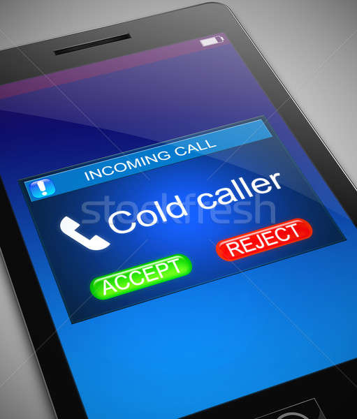 Cold caller concept. Stock photo © 72soul