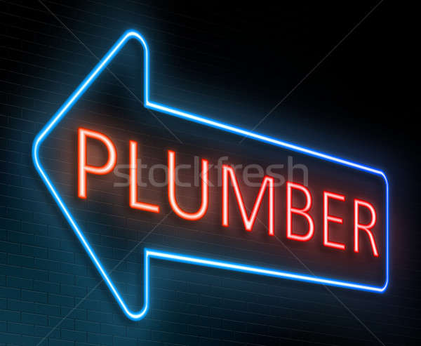 Plumber sign concept. Stock photo © 72soul