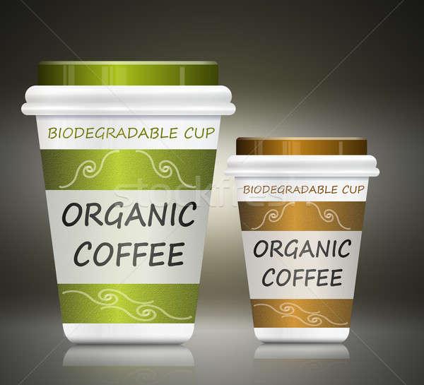 Environmentally friendly coffee. Stock photo © 72soul