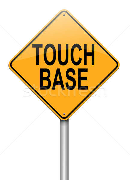 Touch base concept. Stock photo © 72soul