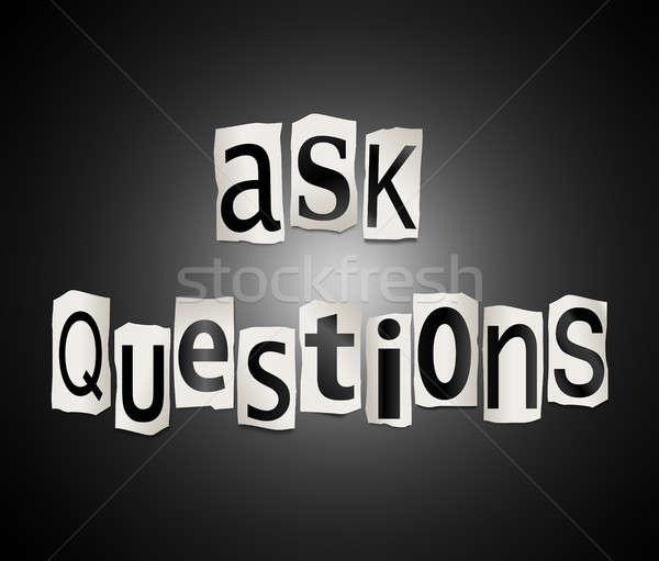 Sormak sorular örnek harfler form Stok fotoğraf © 72soul