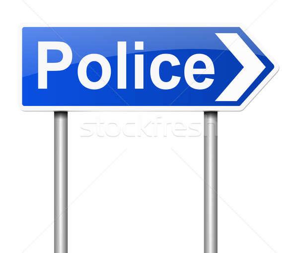 Police sign. Stock photo © 72soul
