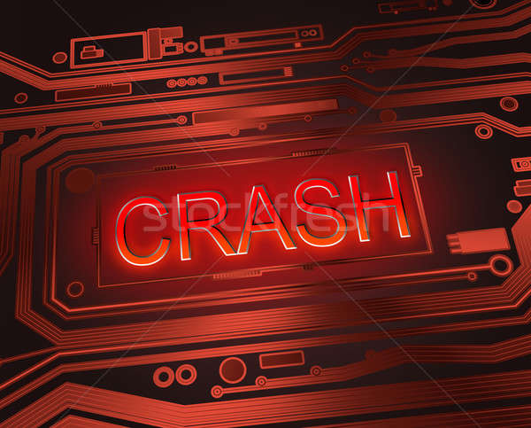 Crash résumé style illustration composants Photo stock © 72soul