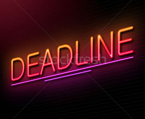 Date limite illustration enseigne au néon rouge cible Photo stock © 72soul