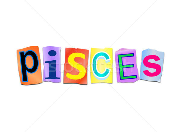 Pisces word concept. Stock photo © 72soul