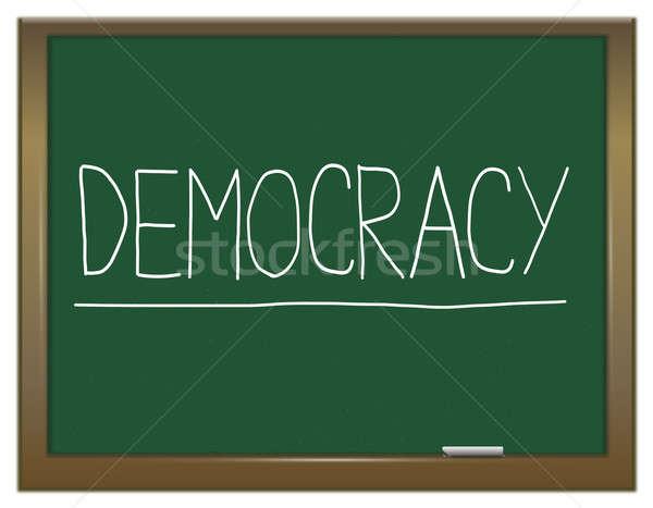 демократия иллюстрация зеленый доске написанный образование Сток-фото © 72soul