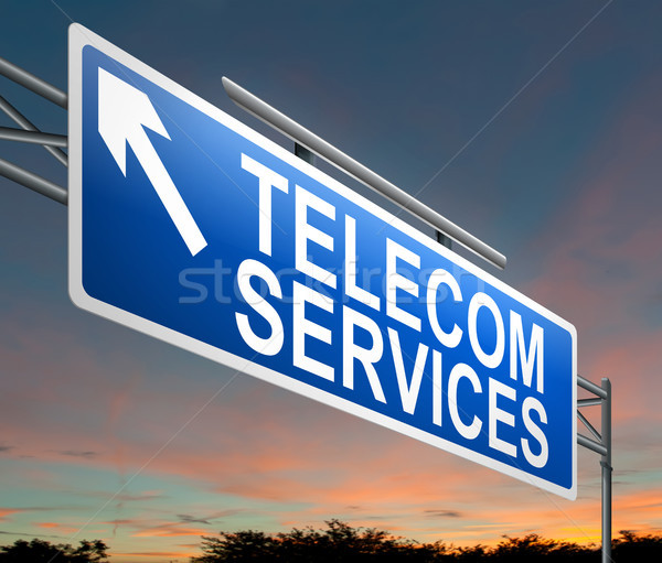 Hizmet örnek imzalamak gökyüzü telefon Internet Stok fotoğraf © 72soul