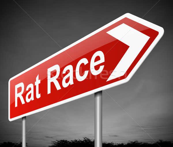 Rato raça ilustração assinar executivo corporativo Foto stock © 72soul
