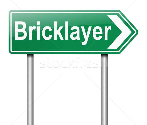 Bricklayer concept. Stock photo © 72soul
