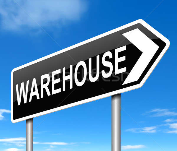 Warehouse sign. Stock photo © 72soul