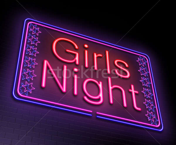 Kızlar gece örnek neon kulüp Stok fotoğraf © 72soul