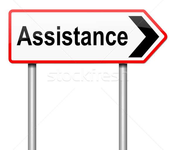 Hilfe Illustration Zeichen helfen Unterstützung Schild Stock foto © 72soul