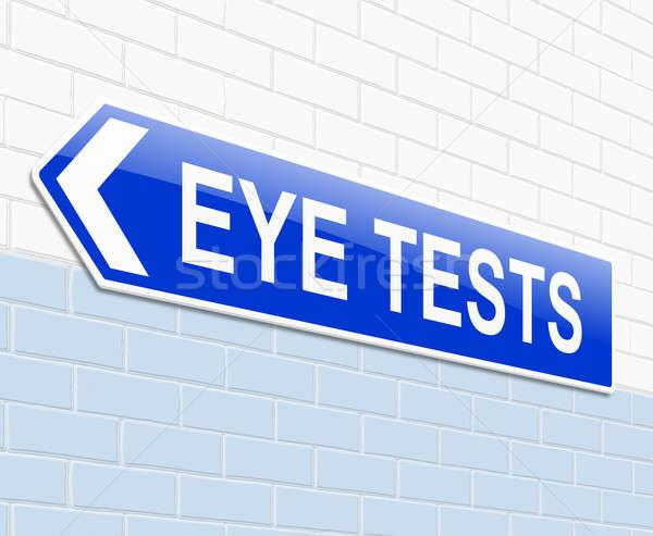 視力検査 実例 にログイン 眼 健康 青 ストックフォト © 72soul