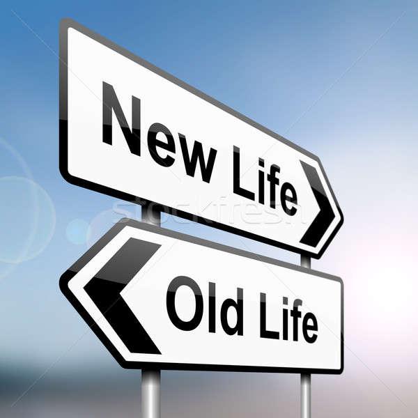 Lifestyle keuzes illustratie teken post pijlen Stockfoto © 72soul