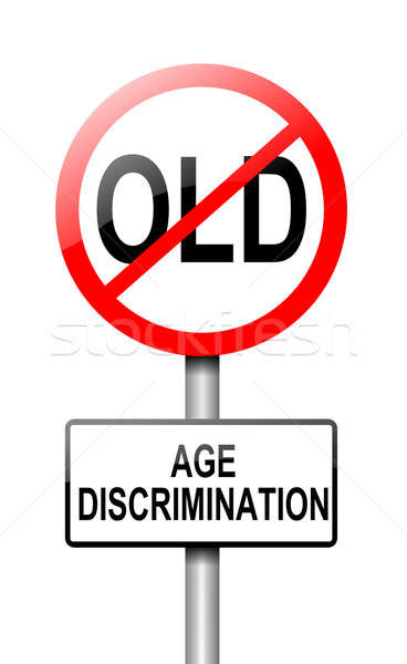 âge discrimination illustration route panneau de signalisation blanche Photo stock © 72soul