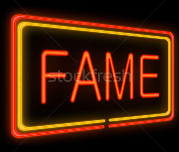 Stock photo: Fame concept.