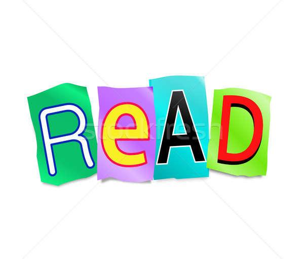Lectura ilustración cartas forma palabra Foto stock © 72soul