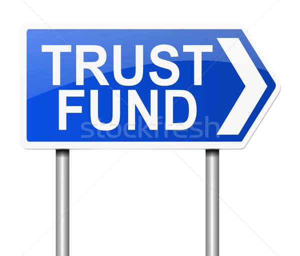 Confiance fonds illustration signe fond sécurité Photo stock © 72soul