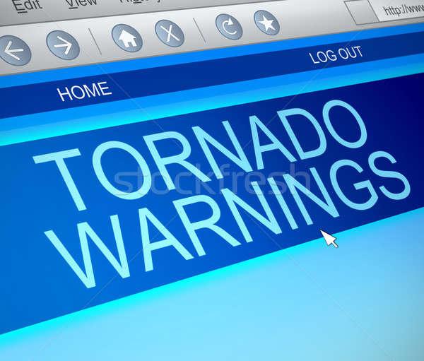 торнадо иллюстрация экране компьютера захват предупреждение Storm Сток-фото © 72soul
