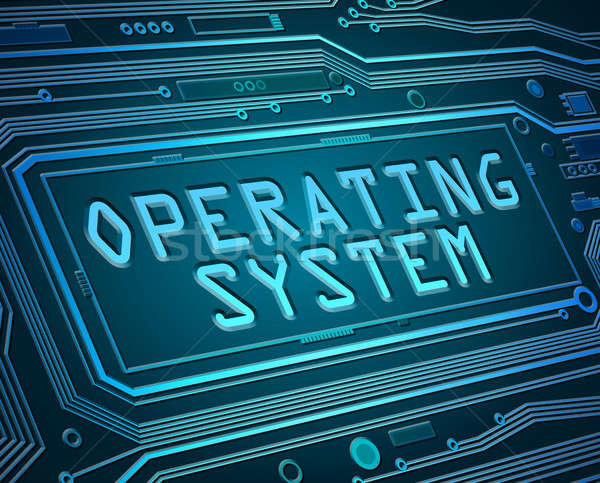 Besturingssysteem abstract stijl illustratie printplaat onderdelen Stockfoto © 72soul