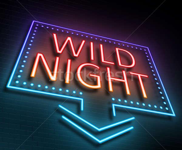 Wild night concept. Stock photo © 72soul