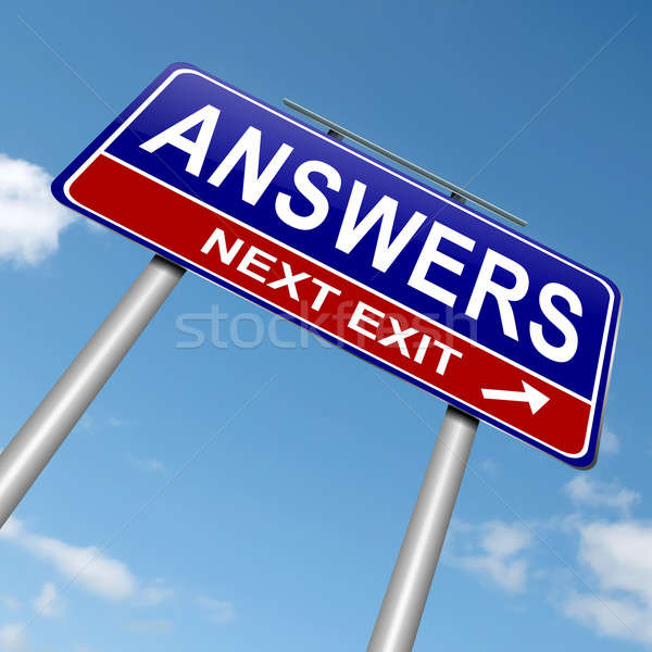 Stock photo: Answers concept.
