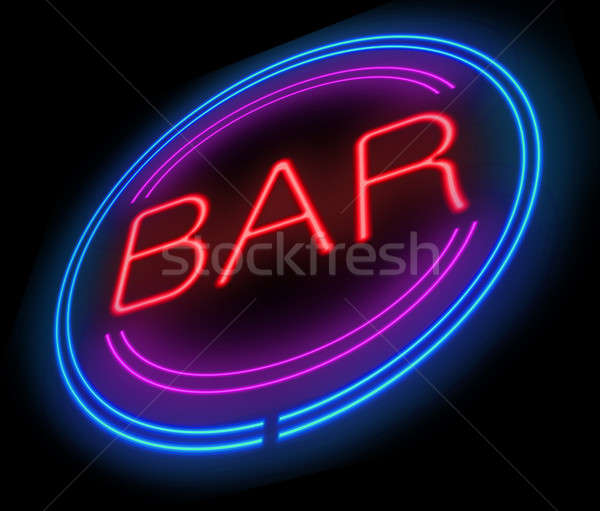 Bar sign. Stock photo © 72soul