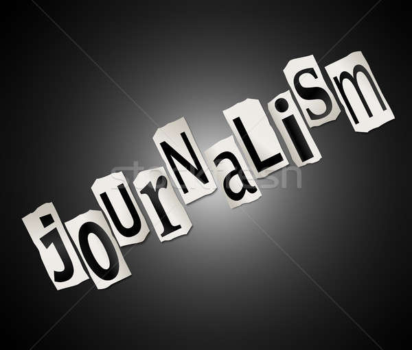 Journalistiek illustratie brieven vorm woord Stockfoto © 72soul