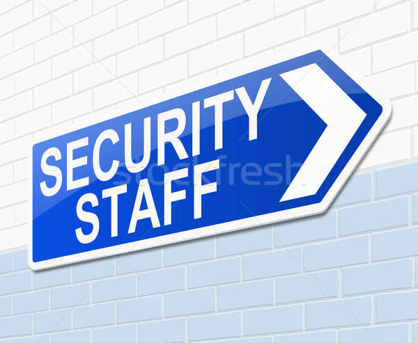 Security staff sign. Stock photo © 72soul