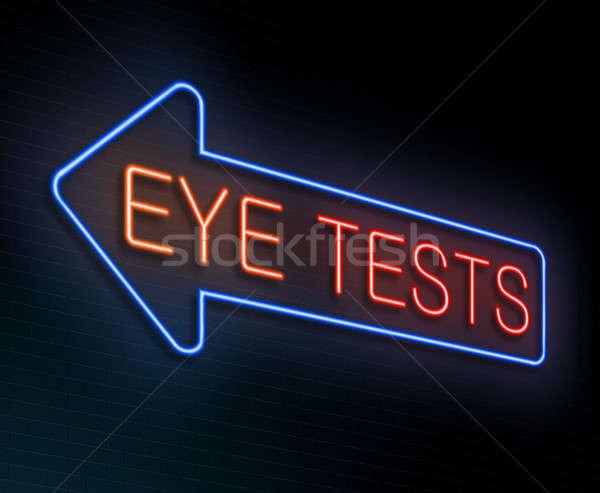 Examen de la vista ilustración iluminado ojo azul Foto stock © 72soul