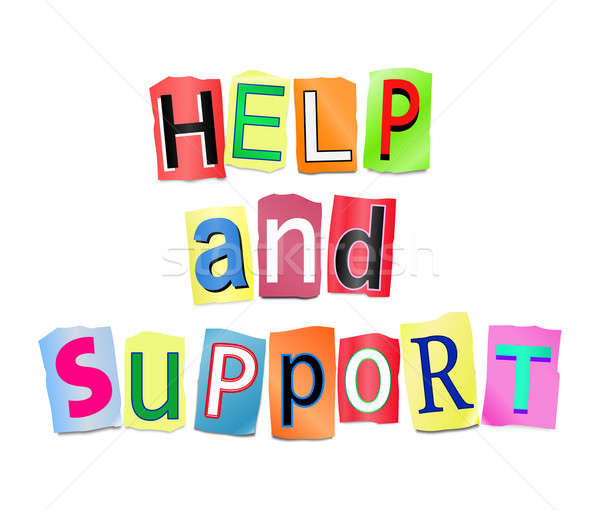 Help and support concept. Stock photo © 72soul