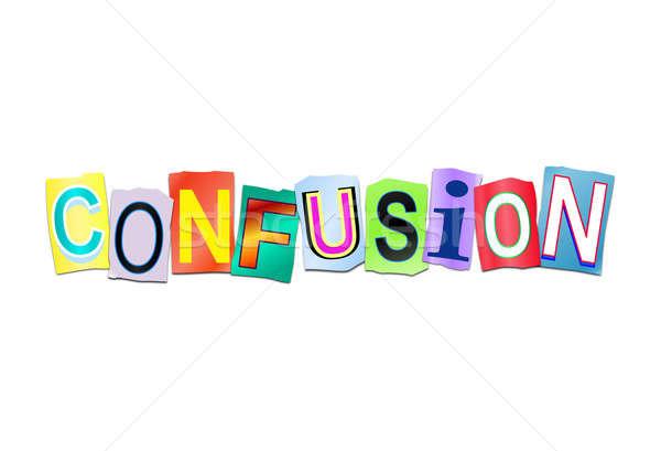 Confusion mot illustration imprimé Photo stock © 72soul