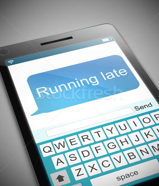 Running late message concept. Stock photo © 72soul