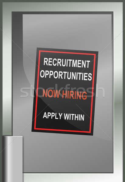 Recrutamento ilustração compras porta oportunidades Foto stock © 72soul