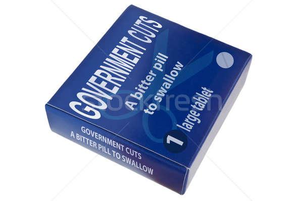 Правительство синий слов горький таблетки Сток-фото © 72soul