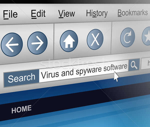 Antivirus search. Stock photo © 72soul