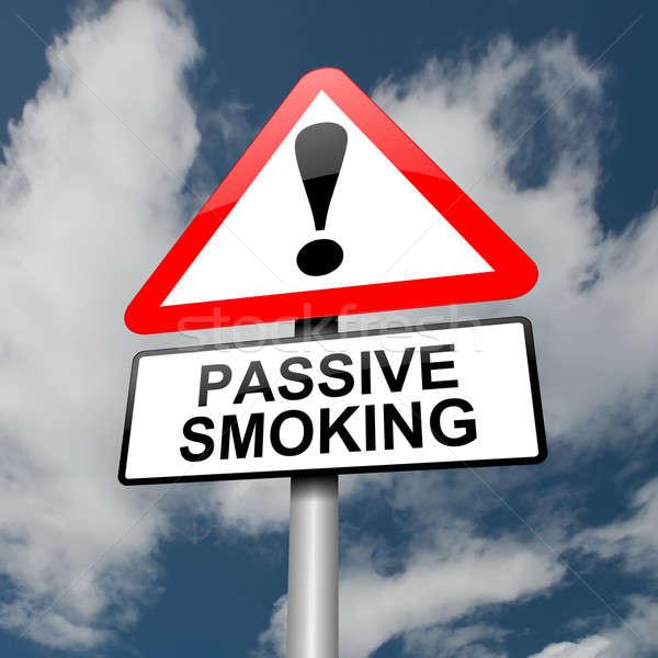 Passiva fumador ilustração vermelho branco Foto stock © 72soul