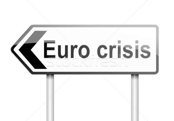 Euro crisis concept. Stock photo © 72soul
