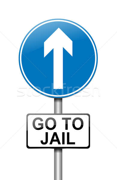 Cárcel ilustración signo ley justicia blanco Foto stock © 72soul