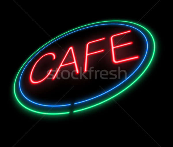 Neon Cafe sign. Stock photo © 72soul