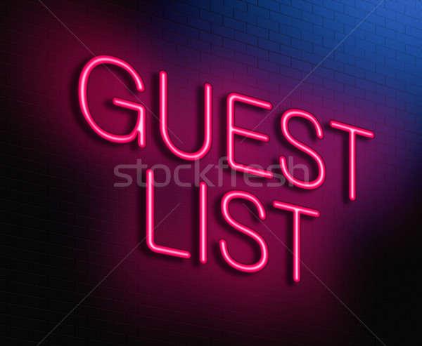 Guest list concept. Stock photo © 72soul
